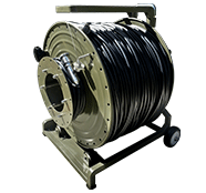 610 Meter TFS DuraTAC®  Stainless Steel Armored Tactical Fiber Cable terminated with TFS Stainless Steel Magnum  Connectors - 4 Fibers - Single Mode - with Reel
