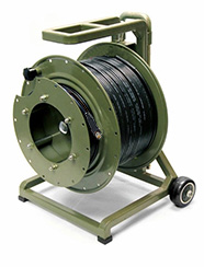 200 Meter TFS Magnum SMPTE Hybrid cable with heavy duty cable reel